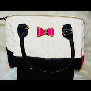 Betsey Johnson mini duffle bag